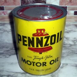 1 Vintage Empty One Gallon Pennzoil Oil Can