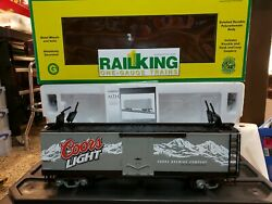 Mth G Scale Coors Light 40and039 Reefer Car Item 70-78027 Nib Rare