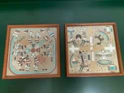 Native American Art Sand Paintings From Wheelwright Museum 1972. High Quality