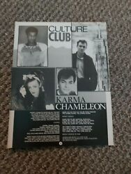 TBEBK161 ADVERT POSTER 11X8quot; CULTURE CLUB ; KARMA CHAMELEON SONG WORDS.