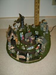 Lemax Spooky Town Graveyard Party 94488 Extremely Rare Read Description  4460