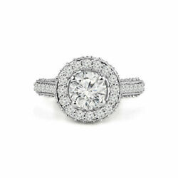 1.40 Ct Real Diamond Womenand039s Wedding Ring Solid 950 Platinum Rings Size 5 6 7 8