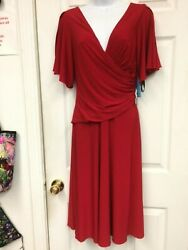 Thea Dora Red Formal Cocktail Evening Weddings Short Sleeve Dress size 4.$160.00 $98.00