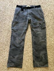 Wrangler Jeans Gray Urban Camo Cargo Pants Menand039s Measure 34x33 Belt Included