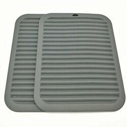 Silicone Trivets Premium 9x12 Big For Hot Dishespots And Pans - A Grey Dark