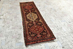 Turkish Rug 35and039and039x118and039and039 Tribal Runner Vintage Antique Rug Hallway Kitchen Rug 2x9