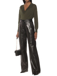Tom Ford Wide Nappa Leather Pants Pants - With Tags- Rrp 5990 Aud