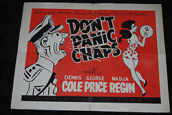 Donand039t Panic Chaps Us Half Sheet - Dennis Price George Cole Hammer Horror Comedy