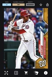 [digital Card] Topps Bunt - Michael Taylor Physical Base Series 1 Gold Uncommon