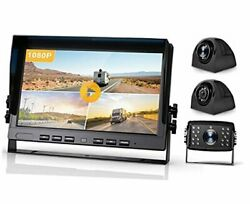 10.2'' 1080p Dvr Wired Backup Camera And Hd Monitor Kit, 10 Inch Black 10''-3