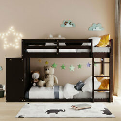 Gfd Home - Twin Over Twin Bunk Bed With 4 Drawers And 3 Shelves-espresso - Lp...