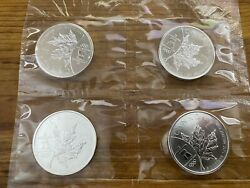 4x 2008 Canadian Silver Maple Leaf Coin-2008 Vancouver Olympics 2010 .9999