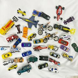 Assortment Matchbox Cars Dirtbikes Helicopter Trucks Airplane 38 Pieces