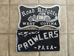 Car Club Plaques Plates Many Available Just Ask Thank You Have A Great Day
