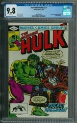 Incredible Hulk 271 Cgc 9.8 White Pages 1st Comic Appearance Of Rocket Raccoon