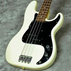 Fender Japan Pb70-us Olympic White Used Made In Japan Maple Neck W/soft Case
