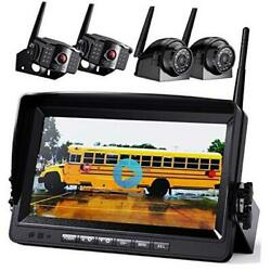 1080p Wireless Backup Camera W/ Built-in Recorder 9 Fhd Monitor, Front Rear