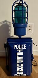 Vintage Police Emergency Telephone Call Box With Cage Light Similar To Gamewell