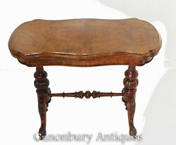 Antique Card Table - Victorian Games Tables Walnut 1880