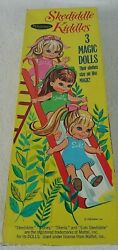 Whitman Skediddle Kiddles 3 Magic Stay On Paper Dolls 1968 Vintage Kids Toy Doll