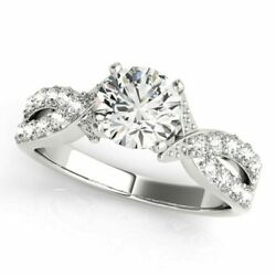 Christmas 0.75 Ct Real Diamond Wedding Ring Solid 18k White Gold Rings Size M N