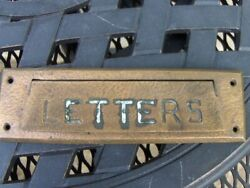 Arts And Crafts Letters Old Bronze Mail Slot Architectural Hardware Hand Hammered