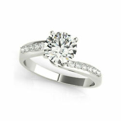 Christmas 1.00 Ct Diamond Engagement Ring Solid 18k White Gold Rings Size 6 8 9