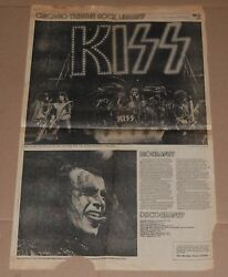 Kiss Vintage Band 1978 Alive 2 Concert Tour 14x23 Poster Article Clipping Aucoin