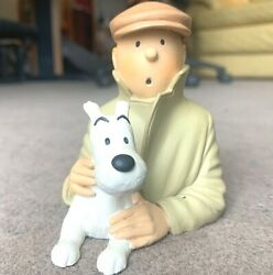 Rare Statuette Pixi Regout 30009 Tintin In Cap And Snowy Bust Broken Ear 1991