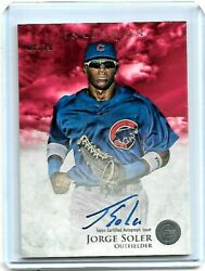 2013 Topps Inception Jorge Soler On Card Prospects Auto Red /10 Pa-jso