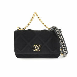 19 Chain Wallet Jersey Leather Black Silver Gold Ap0957 90136026