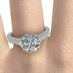 Round Cut 0.85 Ct Real Diamond Engagement Ring 14k White Gold Size 6 8.5 9