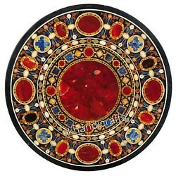 Carnelian Stone Inlaid Living Room Table Top Marble Dining 42 Inches