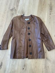 Yves Saint Laurent Brown Leather Jacket Size 42