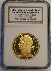2009 1 Oz Gold 1906 Patterson Double Eagle Smithsonian Collection Ngc Gem Proof
