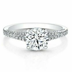 Solid 0.76 Ct Real Round Diamond Engagement Ring Sold 14k White Gold Size 8 5