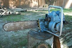 Vintage Homelite Zip Chainsaw 16 Bar Not Running Collectable Chain Saw 1958-68
