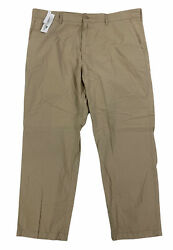 New Lacoste Big And Tall Twill Flat Front Mens Chino Pants Trousers Brown Hh72tn