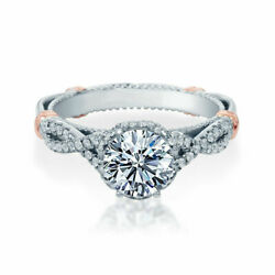 Brilliant Round 0.85 Ct Real Diamond Wedding Rings Solid 18k White Gold Size 7 8