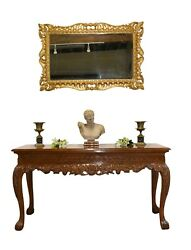 George Ii Console Table Walnut Hand Carved Hall