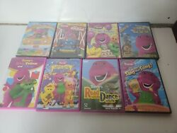 Vintage Barney And Friends Dvd Collection Lot Of 8 Dvd Dino-mite Birthday