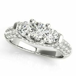 1.46 Ct Round Real Diamond Engagement Ring For Womenand039s 950 Platinum Size 5 6.5 7