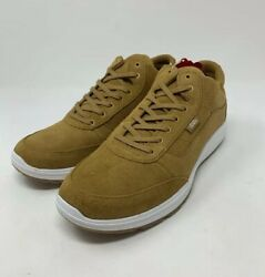 Style 201 Perf Medal Bronze True White Men's Size 11 Suede Gum Bottom New
