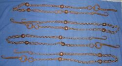 1800's Old Hand Forged Iron Swing Jhula Chain Set Rope Architectural Antiques