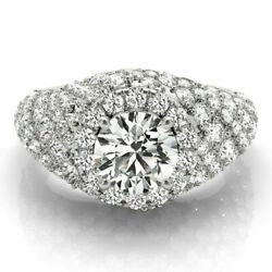 2.00 Ct Round Diamond Engagement Rings Solid 18k White Gold Ring Size 5 6 7 8 9