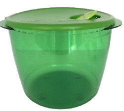 Tupperware Rock N Serve Bowl Container Green Heat And Serve 3.5 Quart New