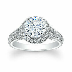 Round Cut 1.20 Ct Diamond Woman Engagement Rings 14k Solid White Gold Size 6 7.5