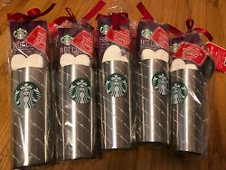 5 X Starbucks Holiday Cocoa Togo Peppermint Hot Cocoa Stainless Steel Travel Mug