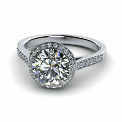 Excellent 0.74 Ct Real Diamond Wedding Bridal Ring 14k Solid White Gold Size 7 8