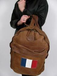 Roots Canada Tribe Leather Student Pack Backpack French Flag Ltd Edition Purse